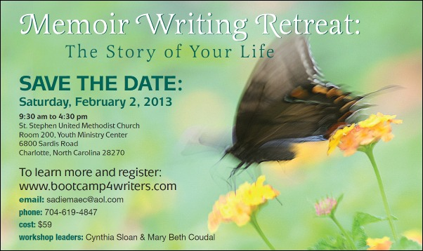 Mary Beth Coudal Memoir Writing Retreat Charlotte North Carolina February 2013