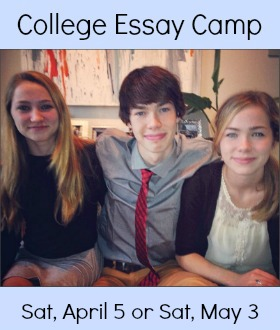 College Essay Camp Sidebar April May 2014